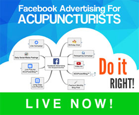 Acupuncture Facebook Advertising